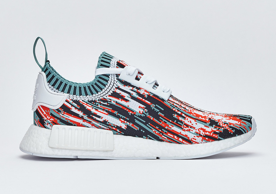 Adidas NMD R1 PK Sneakersnstuff Datamosh Collegiate Orange