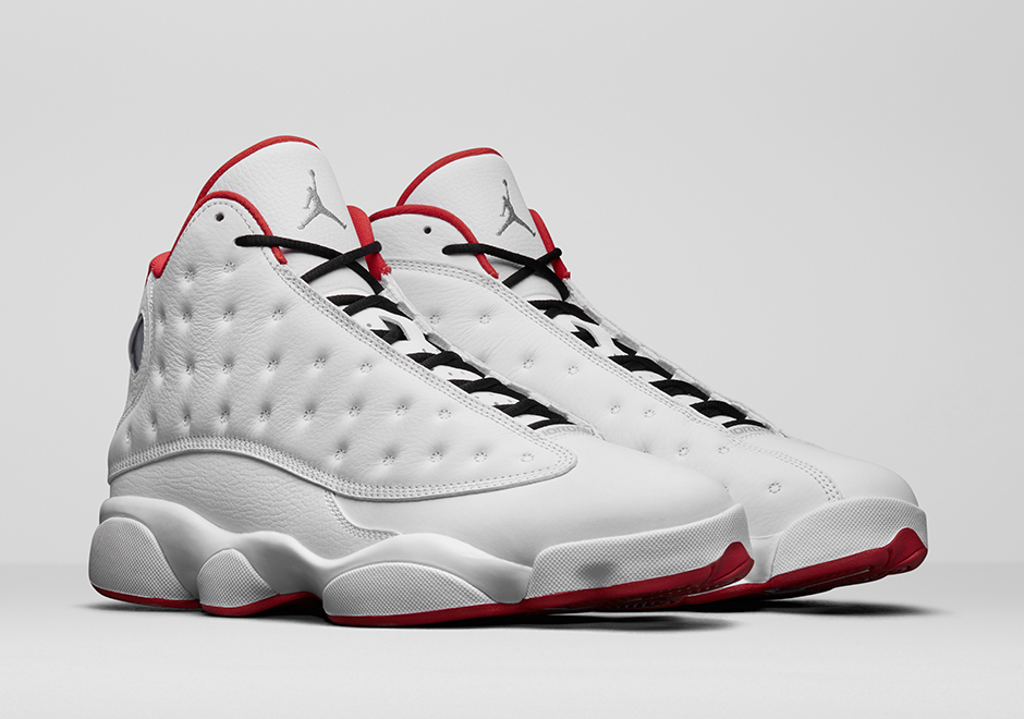 "sports shoes 55e44 9276b Air Jordan 13 ""History of Flight"" White University Red-Metallic Silver  414571-103. July 22, 2017"