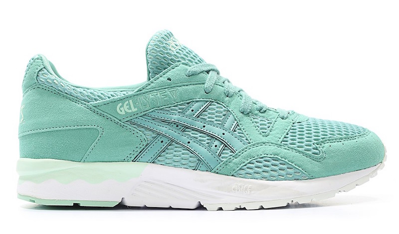 8465dc66ce17 ASICS debuts a special tiffany-esque colorway for the spring season  featuring suede and mesh on the uppers. Done with a breathable mesh