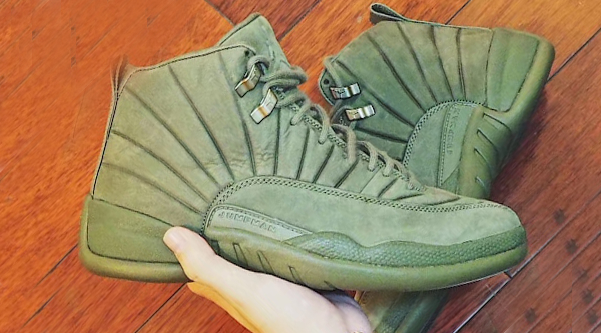 new concept fc52c c2b81 Public School NYC and Jordan Brand have a few more colorways up their  sleeves and the latest to surface is this Olive take. The Air Jordan 12 has  been the ...