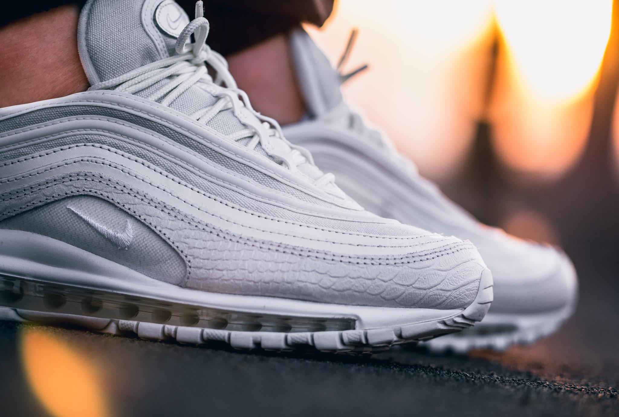 "detailed look 87c4e 3df69 Nike Air Max 97 ""White Snakeskin"" Release Date June 29th, 2017"