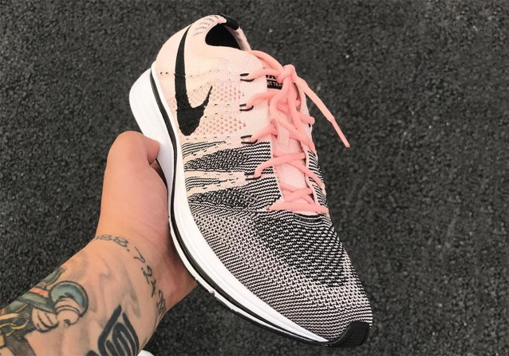 5d1a00e749f11 Nike Flyknit Trainer Color  Sunset Tint Black-White Style Code  AH8396-600.  Release Date  July 2017. Price   150