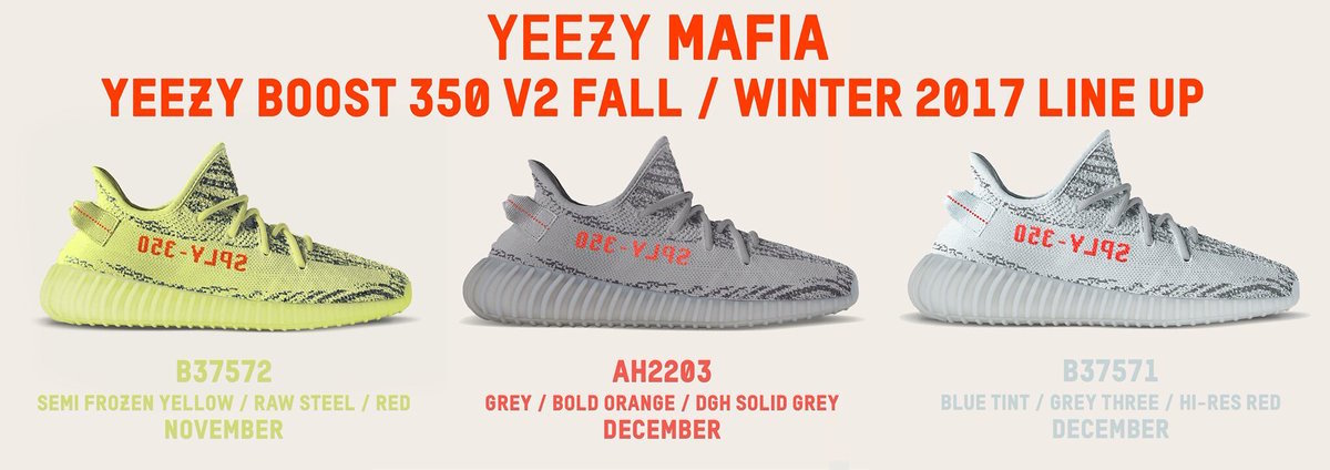 ce97af6cd34a1 Adidas Yeezy Updates for Fall Winter 2017