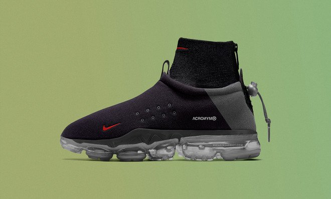 competitive price 0b7f2 2f622 Acronym is bringing back the Nike Air Moc with a collaboration dubbed the Nike  Air Vapormax Flyknit Moc. The silhouette features a moc upper with a sock  ...