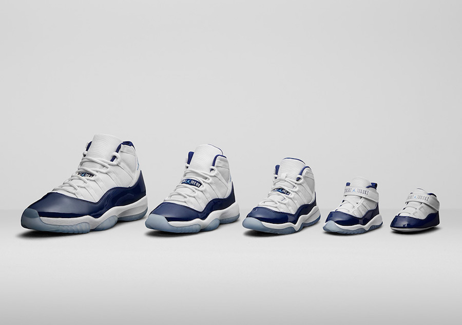 """promo code f25f1 ec9e8 Air Jordan 11 """"Win Like 82"""" Color  White University Blue-Midnight Navy  Style Code  378037-123. Style Code  378038-123 (GS) Style Code  378039-123  (PS)"""
