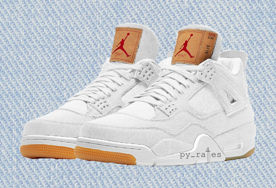 2be50a636404 Levi s x Air Jordan 4. Color  White White Style Code  AO2571-100. Release  Date  June 2018. Price   225