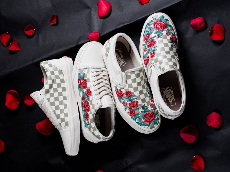 embroidered vans slip ons