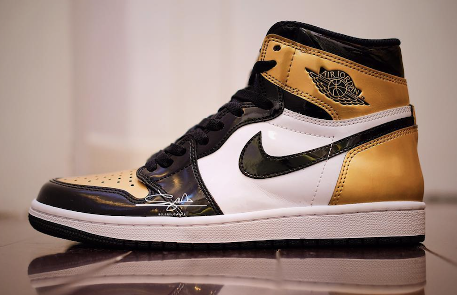 dc04f9e01732eb Air Jordan Retro 1 High OG NRG Color  Black Black-Metallic Gold-White Style  Code  861428-007. Release Date  February 16