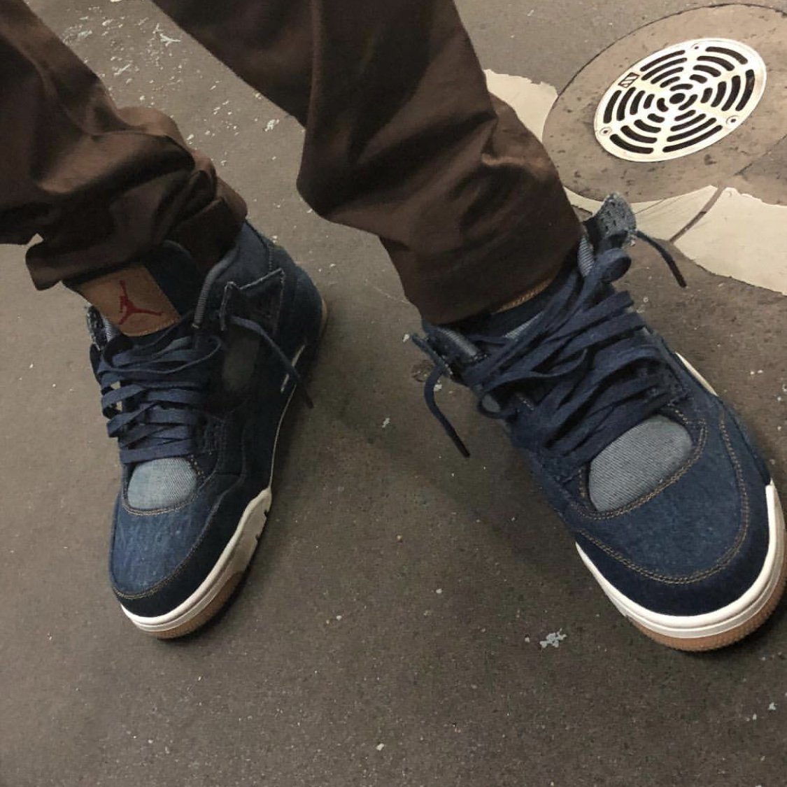 c98d6ee0179a Levi s x Air Jordan 4. Color  Denim Denim-Sail-Game Red Style Code   AO2571-401. Release Date  January 17