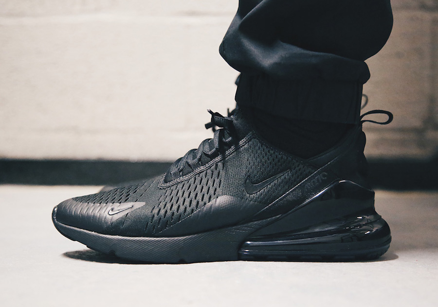 size 40 facbd 2fda9 Nike Debuts a Triple Black Air Max 270 Color way for 2018