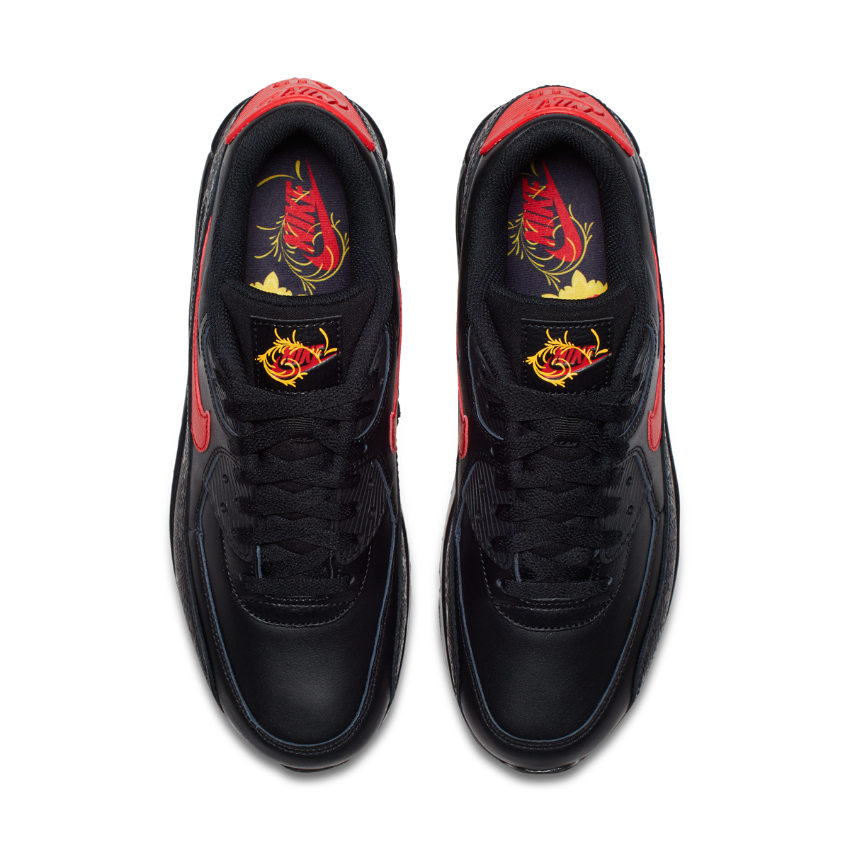 """f85ded79c0 Nike Air Max 90 """"Chinese New Year"""" Color: Black/University Red Style Code:  AO3152-001. Release Date: February 2018"""