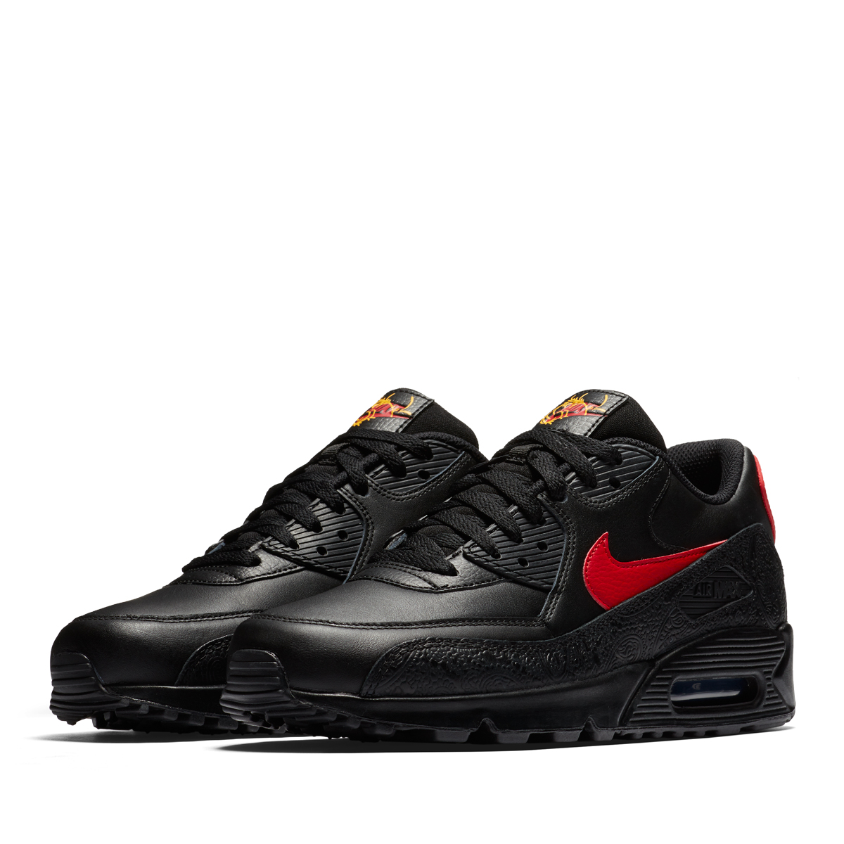 "3203e5aad280 Nike Air Max 90 ""Chinese New Year"" Color  Black University Red Style Code   AO3152-001. Release Date  February 2018"
