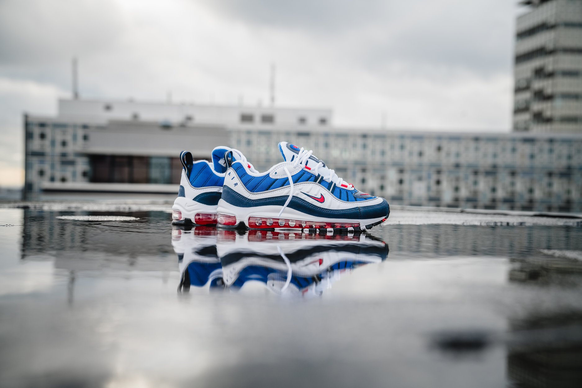 """official photos 137dd 470fc Nike Sportswear will be re-releasing the Gundam Nike Air Max 98 for the  20th anniversary of the 98′ series. Being dubbed """"Gundam"""" for having color  ..."""