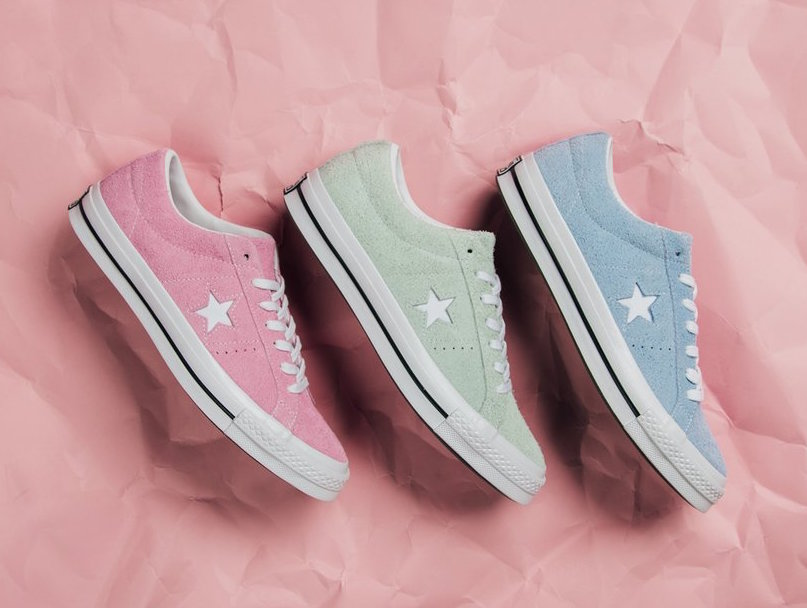 """db74616c3457 Converse sets to release three new pastel color ways of its One Star  silhouette for the """"Cotton Candy"""" Pack just in time for spring."""