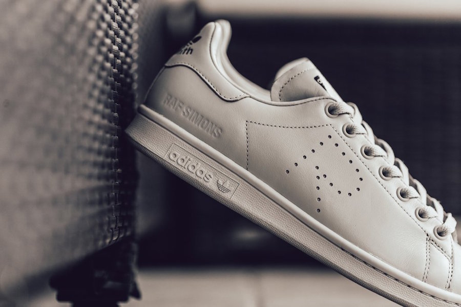 c8399d55ff3f68 The Raf Simons x adidas Stan Smith Mist Stone is now available at select  adidas Originals retailers like Feature with the retail price tag of  320  USD.