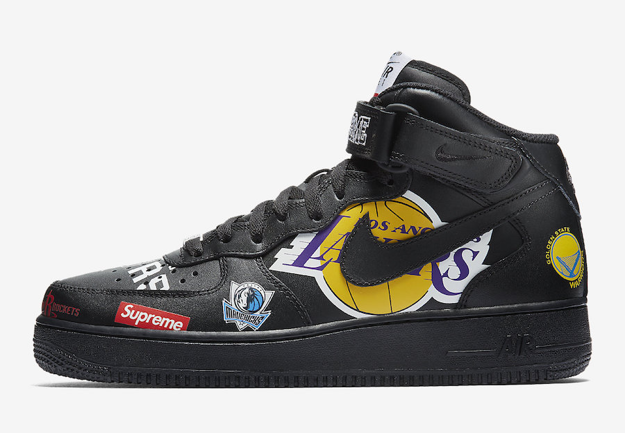 "Supreme x NBA x Nike Air Force 1 Mid ""Black"""