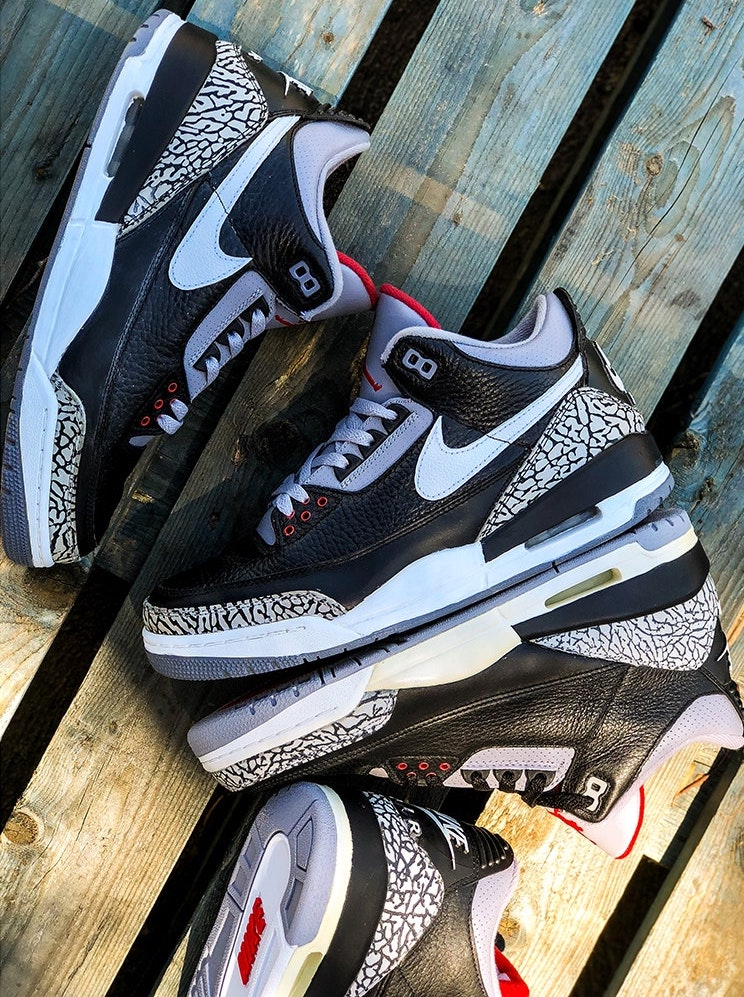 e2553917d47b Any thoughts on this customized sample  TAGS  Air Jordan 3 · air jordan 3  black cement · Bespokeind