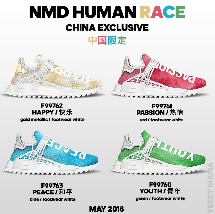 3bffaacfd Pharrell adidas NMD Human Race China Exclusive Release Date. Look for the Pharrell  x ...