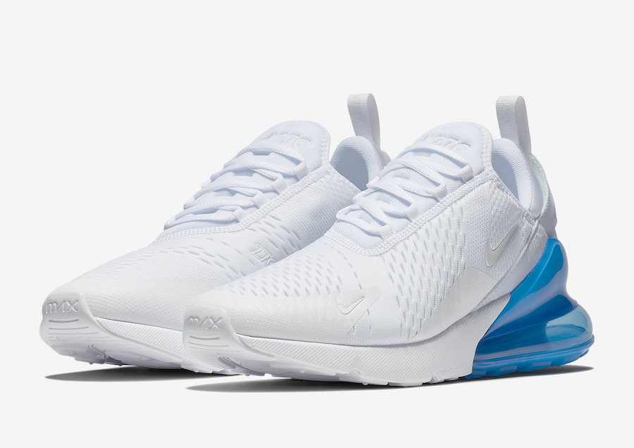 Nike Air Max 270 In White Photo Blue