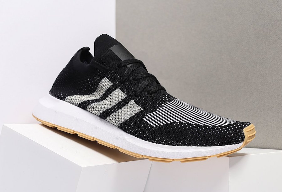 adidas releases a Core Black/Foorwear White iteration of the adidas Swift  Run Primeknit.