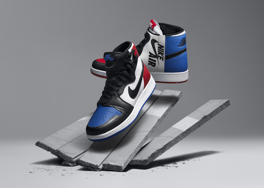"Air Jordan 1 Rebel ""Top 3"" Color  White Black-Varsity Red-Varsity Royal  Style Code  AT4151-001. Release Date  May 19 dd8ba86b6"