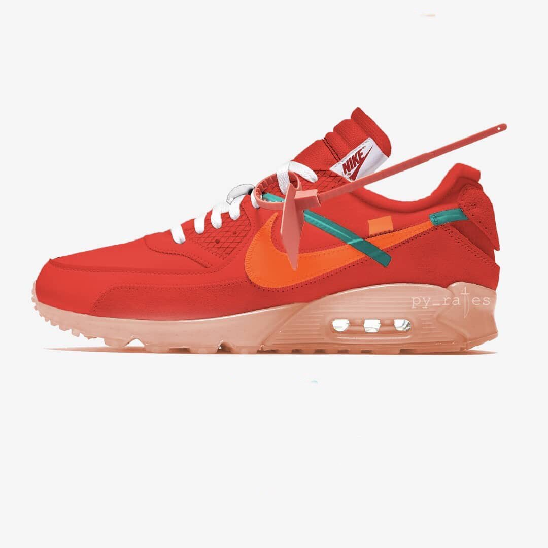 "Off White x Nike Air Max 90 ""Bright Mango"" 