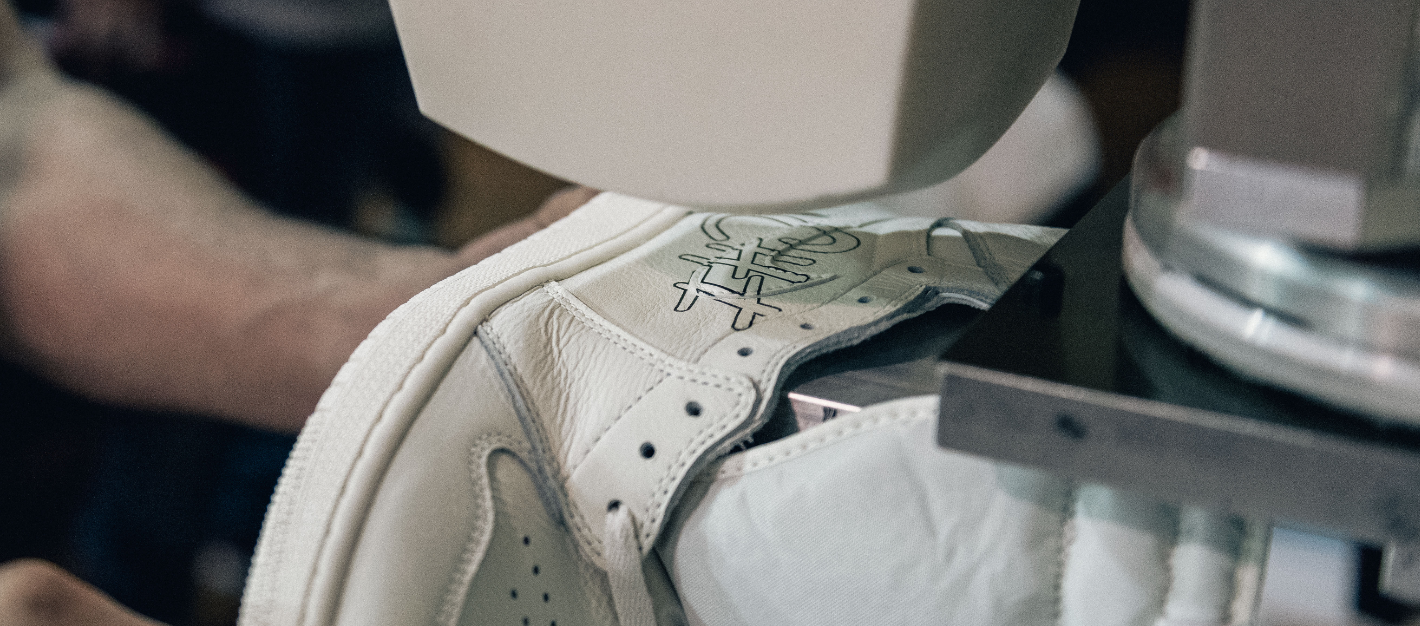 f87cab40d458 Some detailed photos of the Air Jordan 1 Sail Homage to Home Custom are  below.