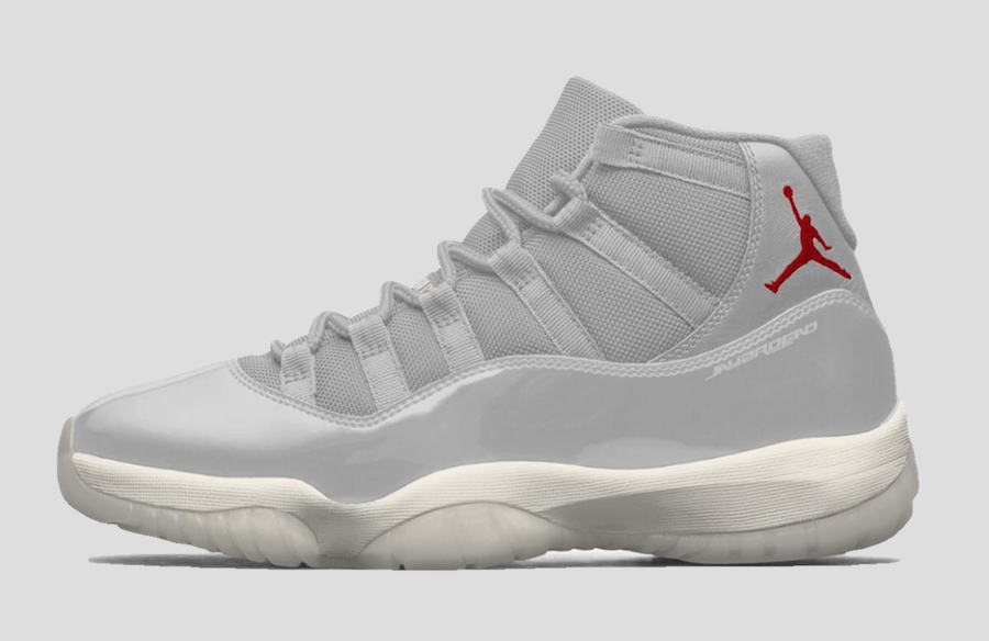 Air Jordan 11. Color  Platinum Tint Sail-University Red Style Code   378037-016. Release Date  October 2018. Price   220 73db2bf22