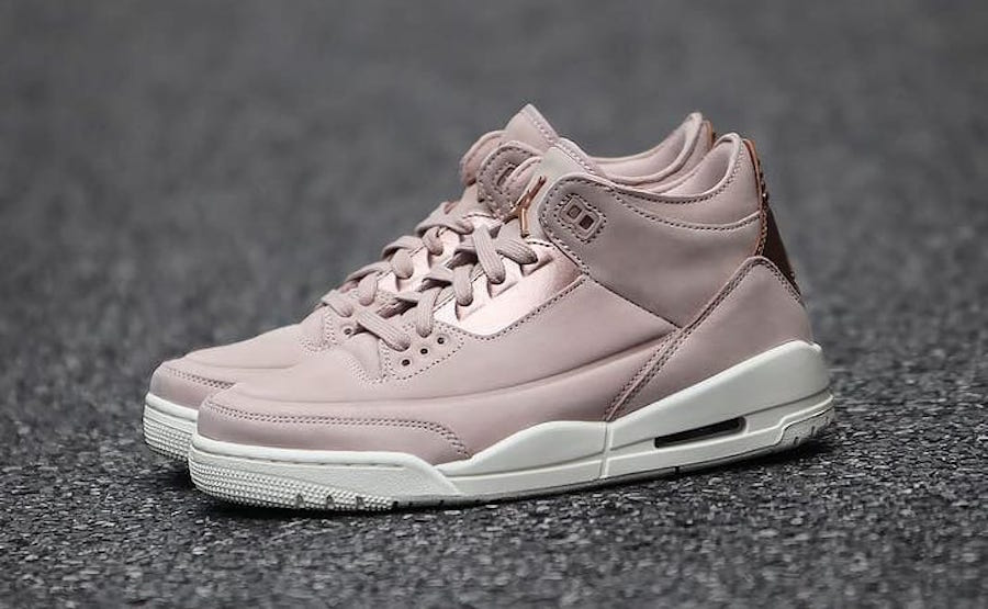 check out e3122 47b0d Air Jordan 3 WMNS Color  Particle Beige Metallic Red Bronze-Sail Style  Code  AH7859-205. Release Date  June 8, 2018. Price   180