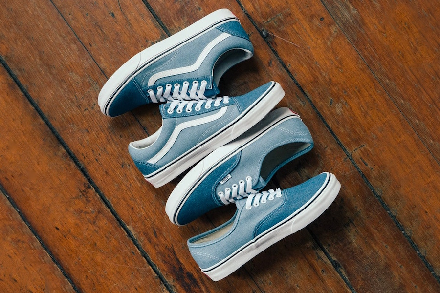 Two-tone Denim Vans Old Skool and Authentic