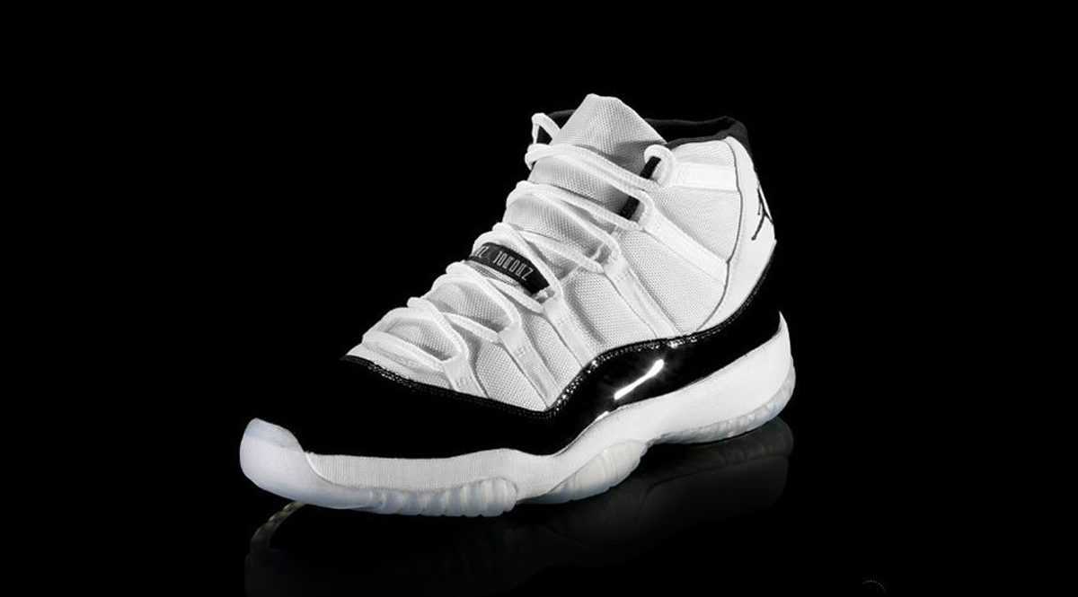 "0da46c3854e Jordan Brand will be releasing the Air Jordan 11 ""Concord"" for Holiday 2018  featuring the 45 on the heel. Originally a PE and rumored for years, ..."