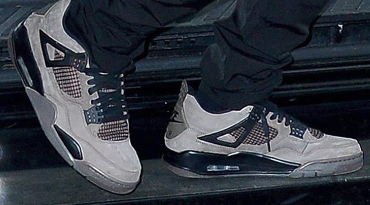 8bfc8204a7e Update  Here s a closer look at the Air Jordan 4 x Travis Scott colorway in Dark  Grey.