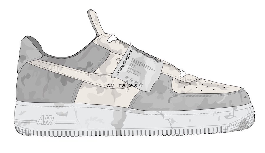 ce750d7e1381 A-Cold-Wall  x Nike Air Force 1 Low Color  Black Dark Grey-White Release  Date  October 2018