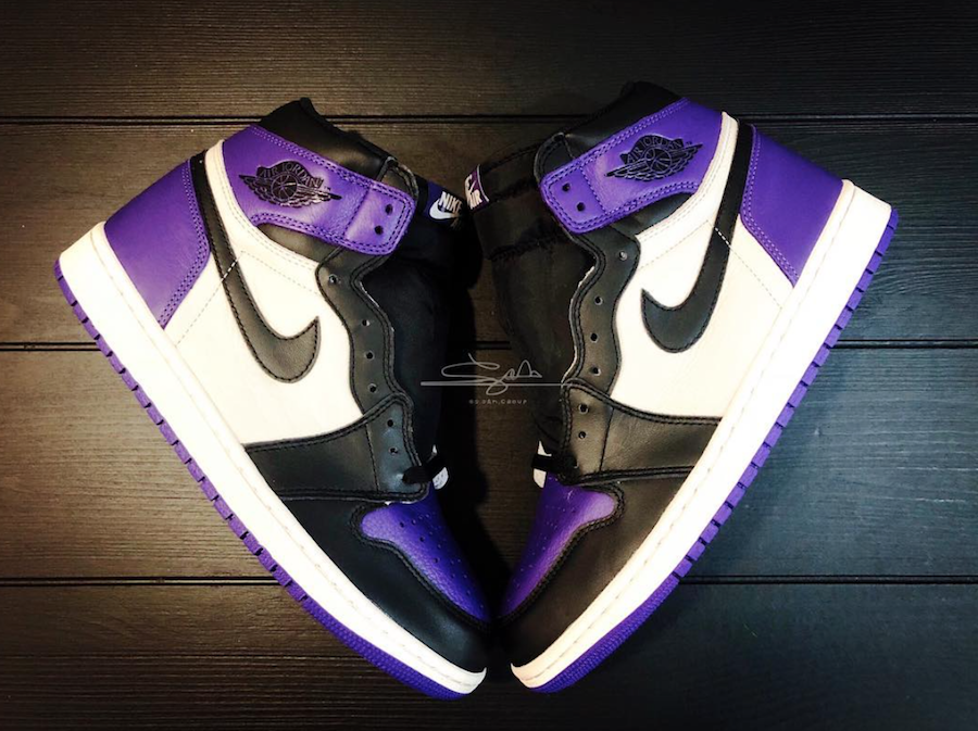 "bb8e14a79c0 Jordan Brand will be releasing the Air Jordan 1 in ""Court Purple"" for the  upcoming JB Fall 2018 line up. Done in classic black toe style, the Air  Jordan 1 ..."