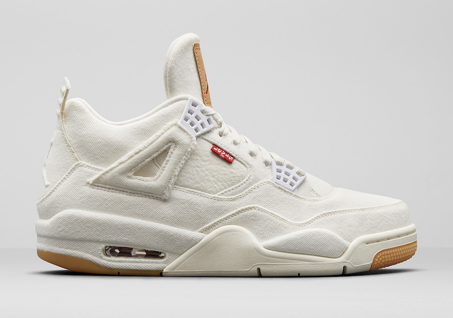 69b8c746ad14 Jordan Brand will be releasing a White Denim version of the Air Jordan 4  with jeans company Levis for Summer 2018. The Air Jordan 4 will feature a  white ...