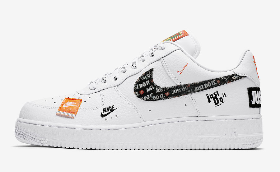 "promo code b66a8 f2e58 Nike Air Force 1  07 PRM ""Just Do It"" Color  White"