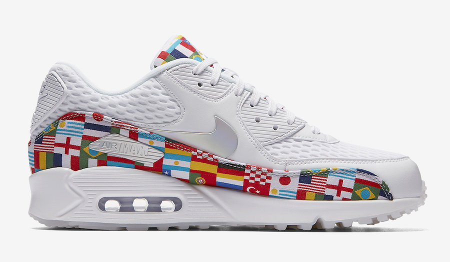 "92e1cc07d813 Nike Air Max 90 ""One World"" Color  White Multi-Color Style Code   AO5119-100. Release Date  June 14"