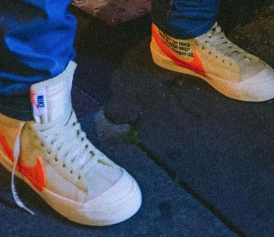 "buy online 3844a 95bbb Off-White x Nike Blazer Mid ""Cream Orange"""