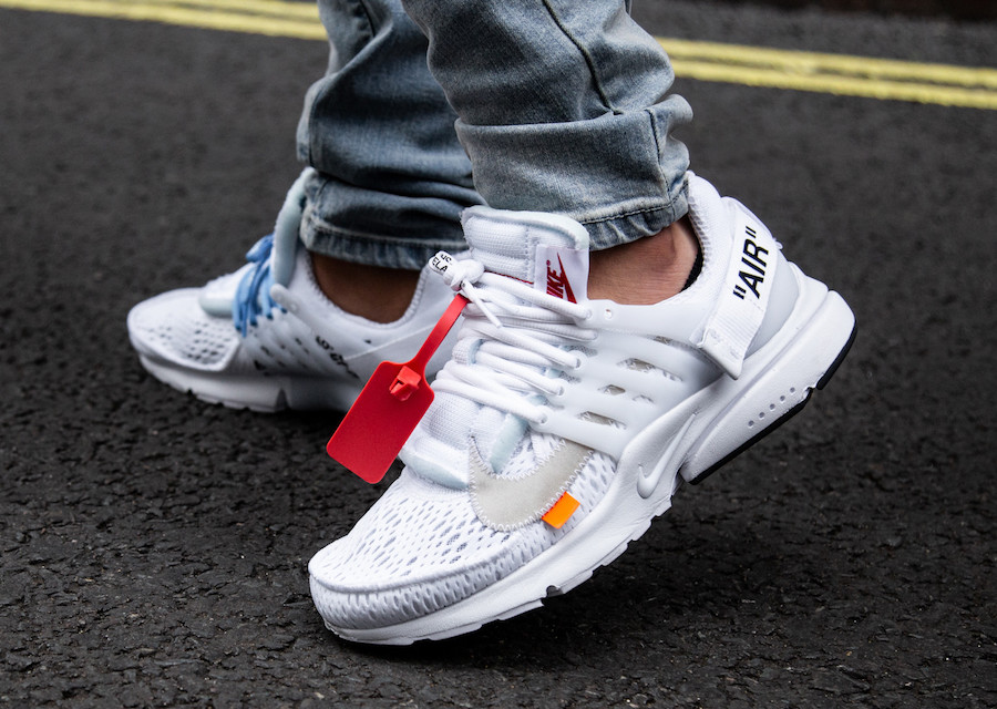 best service 6715e 26c0d Off-White x Nike Presto Color  Black White-Cone Style Code  AA3830-002.  Release Date  June 21, 2018. Price   160