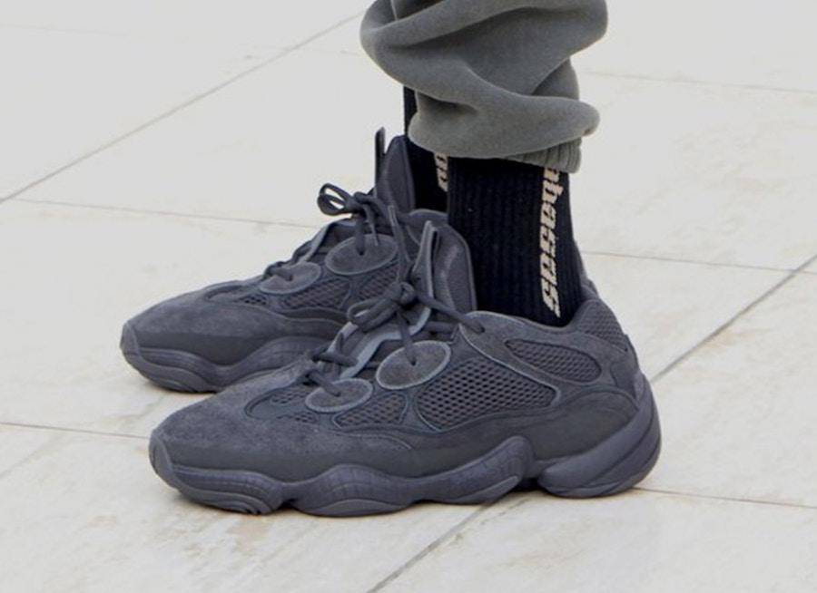 "With the release of the ""Super Moon Yellow"" color way of the Yeezy 500 126639abe"