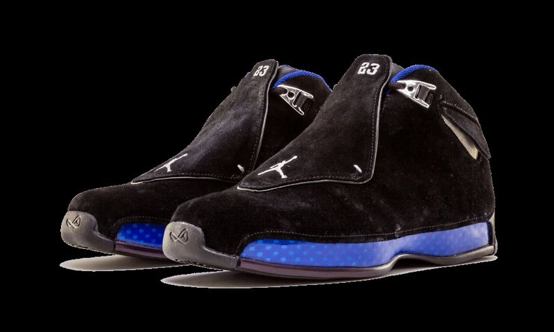 d545de9a8a29 Air Jordan 18 Black Sport Royal Release Date