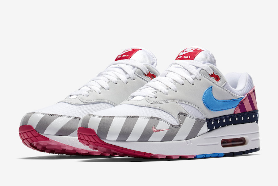cheaper eedd1 09a4b Parra x Nike Air Max 1. Color  White Pure Platinum Style Code  AT3057-100.  Release Date  July 21, 2018. Price   150