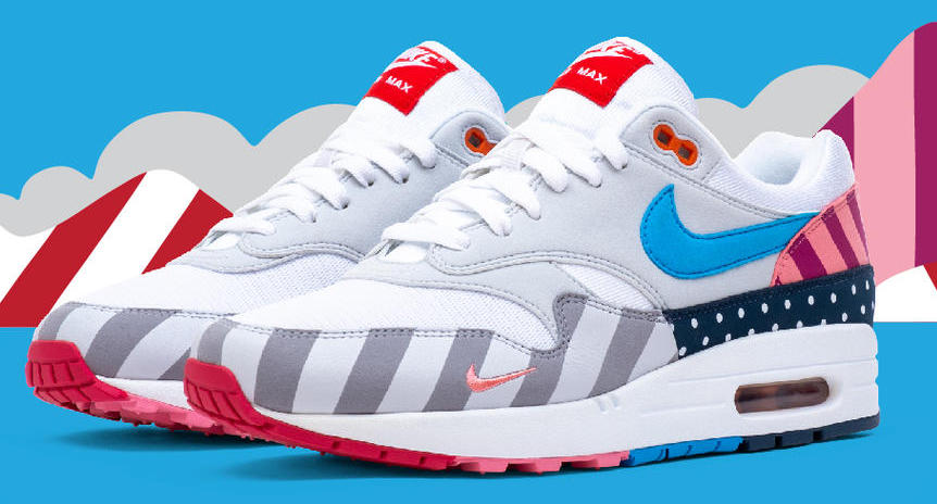 "98bd43bf35 Air Max 1 Parra Patta ""Cherrywood"" Below via StockX."