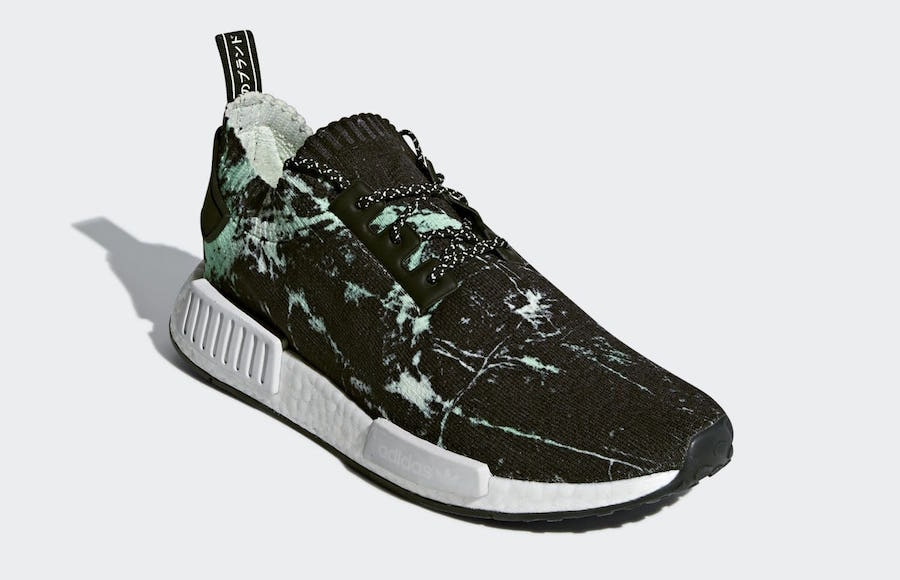 "adidas NMD R1 Primeknit ""Green Marble"" Color  Black White-Green Style Code   BB7996 Release Date  July 27 1092407b01ae"