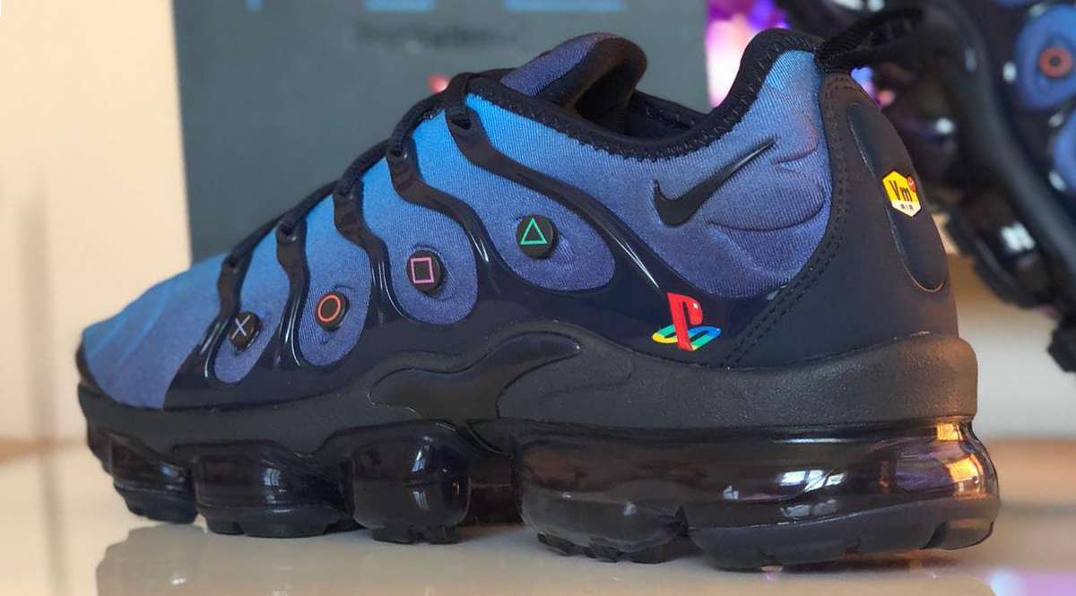 pretty nice 49ad3 d6ed1 ... top quality playstation modder pinto linto created his own ps2 x nike  air tuned 1 custom