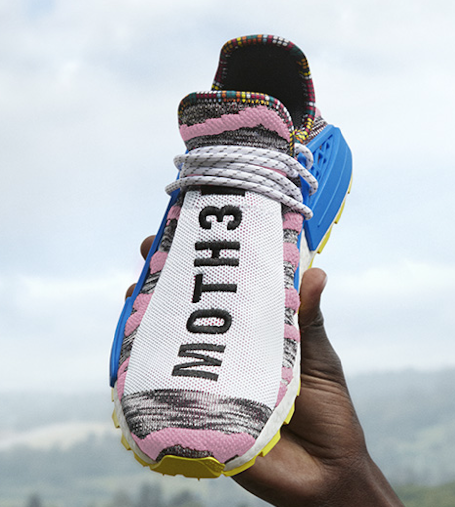 "9cb86cc651a6 Pharrell x adidas NMD Hu ""Solar Pack"" Color  Hi-Res Red Bright Blue Style  Code  BB9531 Releas Date  August 18"