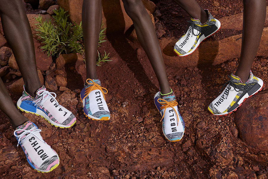 Pharrell Williams X Adidas Nmd Hu Trail Solar Pack Look Book