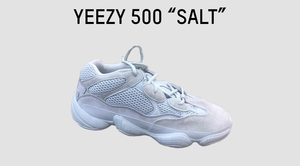 fad7705f5b6f1 Kanye West and adidas Originals will be releasing another Yeezy 500 this  fall season featuring a SALT themed colorway. The 500 features an upper  composed of ...