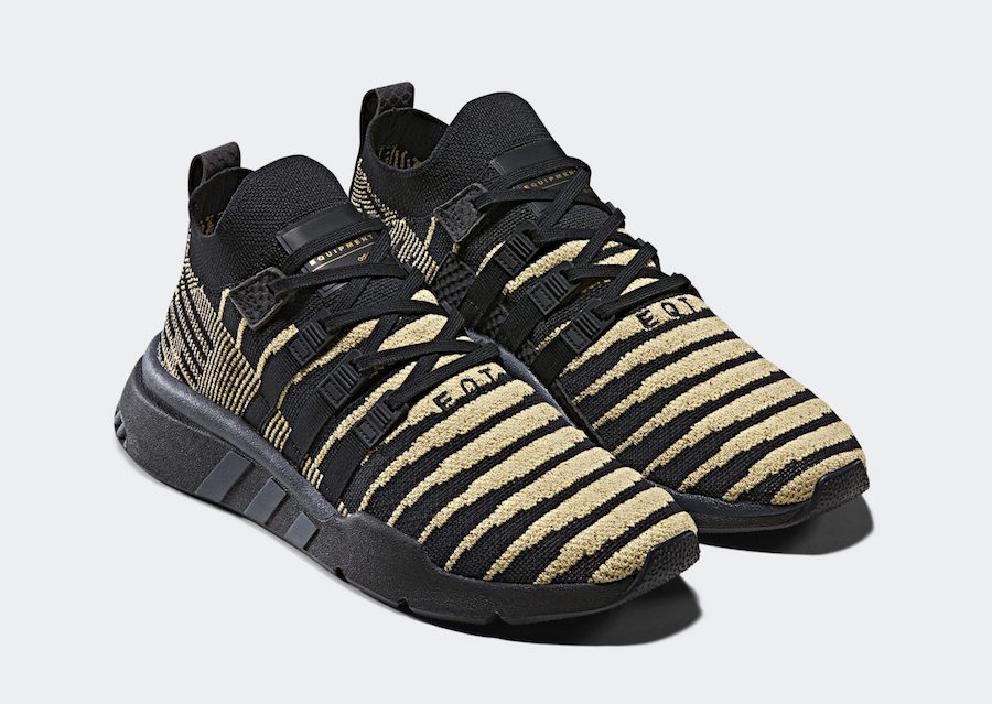 """adidas EQT Support Mid ADV """"Shenron"""" in a Black/Gold Color ..."""