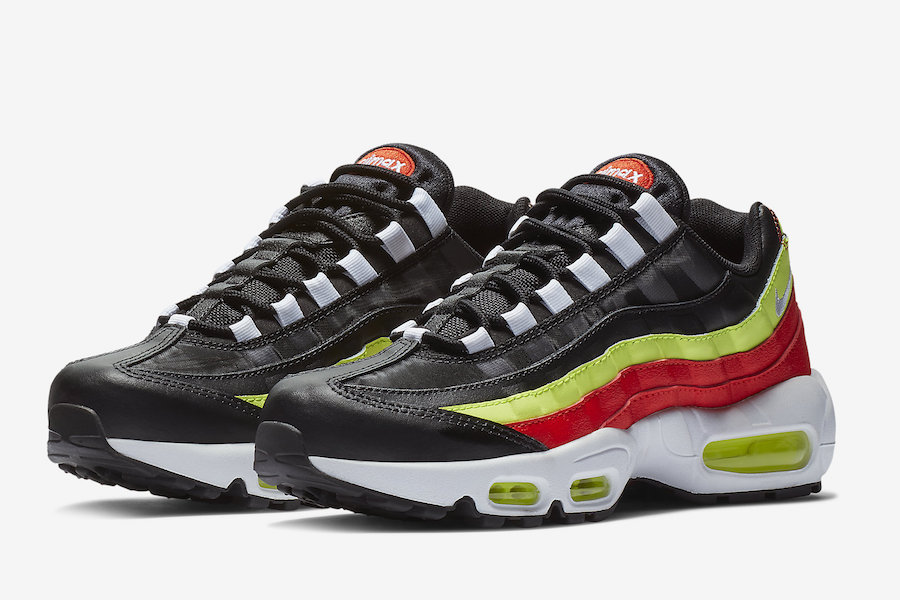 reputable site 3de8e 94818 Nike Air Max 95 with Neon and Red
